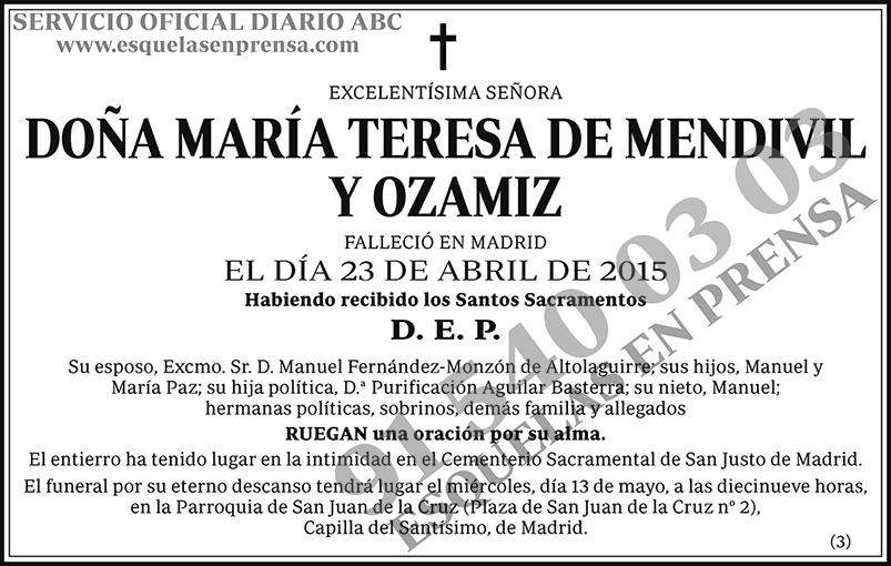 María Teresa de Mendivil y Ozamiz